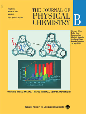 Blanco and Auerbach on the Cover of J. Phys. Chem. B